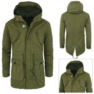 new product 854a1 02edc Giubbotto Parka Uomo con pelliccia verde